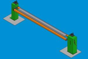 Jednoosé ručně poháněné olohovadlo se stavitelnou výškou, max. nosnost 500 kg